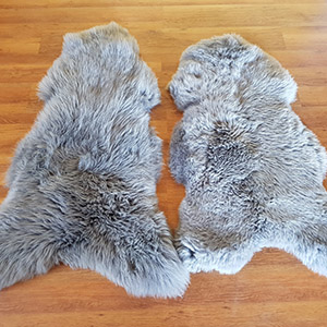 Sheepskin rug dyed leather tannery skins wholesale factory