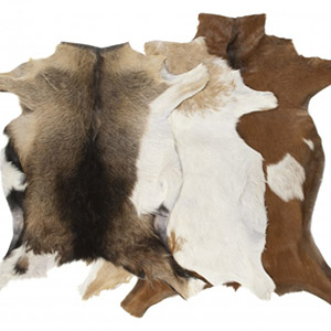 Goat skin rug tannery leather manufacturer skins wholesale