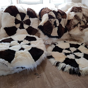 Sheepskin rug sewn together manufacturer wholesale tannery